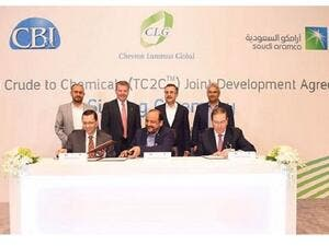 Saudi Aramco has signed a three-party Joint Development Agreement (JDA) to scale up and commercialize Aramco's thermal crude to chemicals (TC2C) technology.
