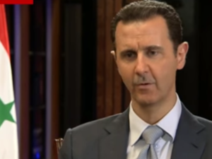 Assad pictured during a previous interview with the BBC (Youtube / BBC)