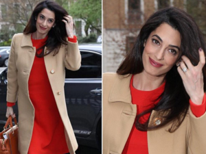 Amal looked glowing in London. (Instagram)