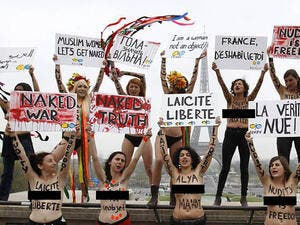 Femen's topless tactics and Muslim women in France