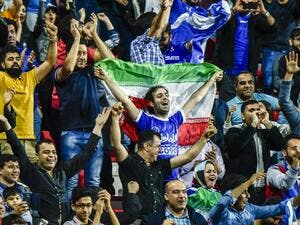 Esteghlal FC supporters attend the AFC Champions League qualifying football match between UAE's Al-Ahli and Iran's Esteghlal FC at Al-Rashid Stadium in Dubai on February 20, 2017.