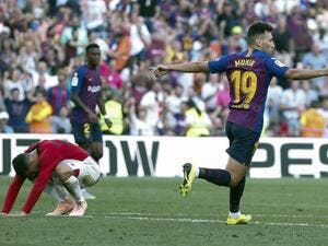 Barcelona dropped points in LaLiga for a third successive game, but it could have been worse had Lionel Messi not set up Munir El Haddadi.