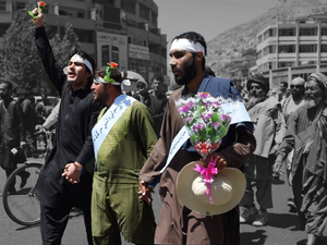 Peace activists in Afghanistan marched hundreds of miles through the country (AFP/FILE)
