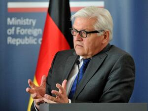 "German FM Frank-Walter Steinmeier announced plans to travel on Monday to the Gaza Strip, urges ""concrete steps"" to improve life in the territory. (AFP/Natalia Dobroszycka)"