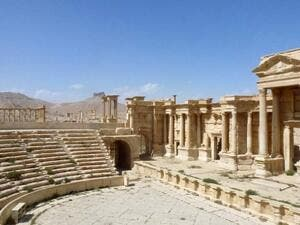 A general view shows the theater of the ancient Syrian city of Palmyra, after government troops recaptured the UNESCO world heritage site from Daesh on March 27, 2016. (AFP/Maher Al Mounes)