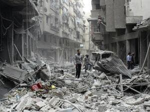 Scene from the Syrian carnage. (AFP/ File Photo)