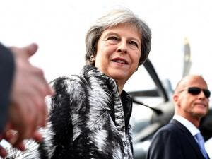 Britain's Prime Minister Theresa May called for an action against Russia aggression. (Ben STANSALL / AFP)