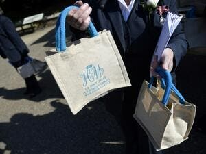 Royal wedding goody bags are going for large sums of money in online auctions. (AFP/ File Photo)