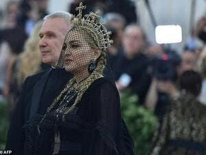 Jean-Paul Gaultier and Madonna arrive for the 2018 Met Gala /AFP
