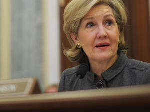 "Kay Bailey Hutchison, US ambassador to NATO, accused Syrian President Bashar al-Assad of ""genocide"" after suspected chemical attack in Damascus. (AFP/ File Photo)"