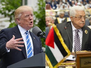 US President Donald Trump and Palestinian President Mahmoud Abbas. (AFP/File)