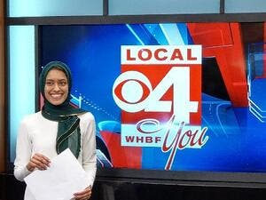 Tahera Rahman, First hijabi US TV reporter defies odds to go on air. (Twitter)