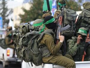 Palestinian Hamas militants in the Gaza Strip. (AFP/ File Photo)
