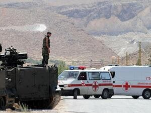 Lebanese soldiers at a checkpoint in Arsal. (AFP/file)