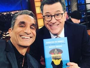 The Egyptian comedian was a guest on Colbert's show on Wednesday night. (Facebook)