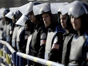 Dozens of policemen in northern Egypt protested for better incentives and occupational hazard compensation. (AFP/File)
