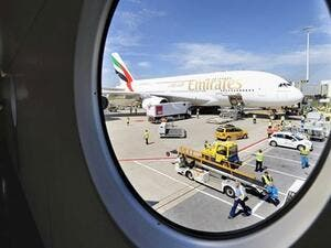 Despite the huge drop in annual profit, Emirates managed to remain profitable with Dh1.3 billion ($340 million), and a profit margin of 1.5 percent. (AFP/ File)