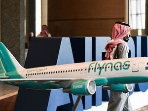 Flynas revives Beirut flights with low fares starting from SR299 ($80) one way all inclusive. (Fayez Nureldine/ AFP)