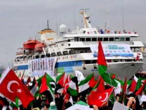 The first 'Freedom Flotilla' set sail in 2010. Nine activists on board the ships were killed (AFP/File)