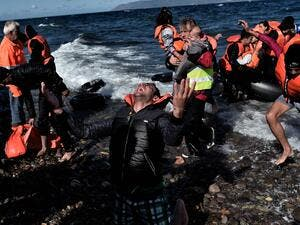 According to the IOM, over 154,000 people have crossed the Aegean Sea from Turkey so far this year. (AFP/File)