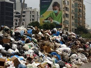 """We are in a garbage crisis whether there is trash on the streets or not,"" HRW Lebanon and Kuwait researcher Bassam Khawaja said (AFP/File)"