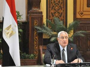 Egyptian interim President Adly Mansour said Wednesday Egypt would not return to a police state. (AFP/File)