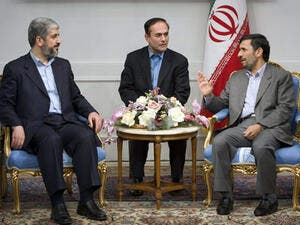The leaders of Hamas and Iran chat. Image via standfordreview.com
