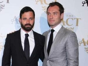Simon Hammerstein (left) and Jude Law, during the launch of The Act Dubai at Shangri-la Dubai. (Gulf News)