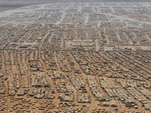 Zaatari is Jordan's fourth largest city and the second biggest refugee camp in the world. (AFP/File)
