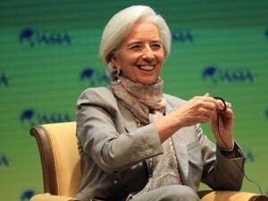 Lagarde refused to comment on the money that Egypt received from the Gulf Cooperation Council (GCC).