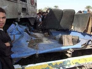 The wreckage after the crash (Photo: Mohamed Omar/ Daily News Egypt)