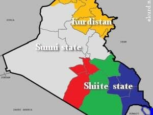 Will three parts make a whole, big mess in Iraq or bring peace at last? (Image courtesy of ekurd.net)