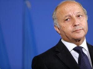 French Foreign Affairs minister Laurent Fabius gives a press conference on the situation in Syria, on September 10, 2013 at the ministry in Paris. (AFP)