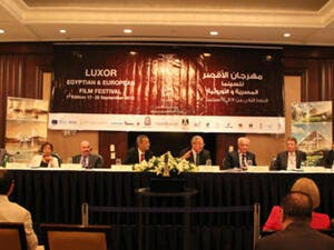 Panel at Luxor Film Festival Press Conference (Photo: Rowan El Shimi)