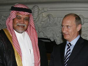 Russia's Putin and KSA's Prince Bandar previously met in July to discuss the war in Syria (Alexey Druzhinin/RIA Novosti)