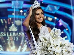 Lebanon crowned Valerie Abou Chacra Miss Lebanon 2015 on Monday night. (The Daily Star)