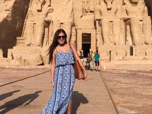 Miss Mexico having a fab time in Egypt. (Facebook)