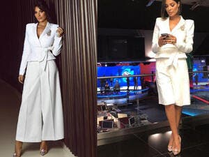 The jacket that Nadine wore twice is from Alexandre Vauthier brand (Source: nadine.nassib.njeim - Instagram)
