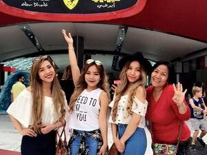 The Filipina girl group put on a successful show in the Emirati city. (Facebook)