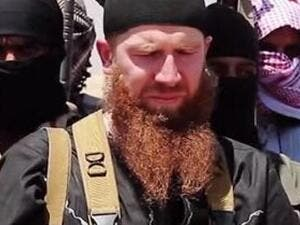 Omar al-Shishani survived the March 4 airstrikes targeting his convoy, although he was seriously wounded in the attack. (File photo)