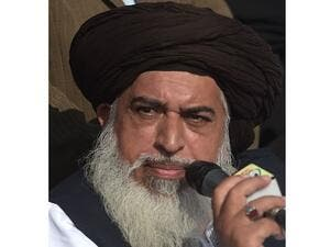Head of the Tehreek-e-Labaik Pakistan Khadim Hussain Rizvi. (AFP/ File)