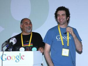 Ammar Ibrahim demonstrating Google products during the G|Jordan press conference