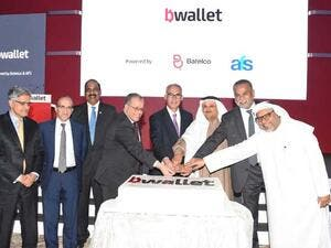 Batelco and AFS officials and guests at the launch of the bWallet.