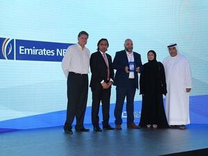 Emirates NBD receives the 'Innovation in Hybrid IT Management' award from Micro Focus.