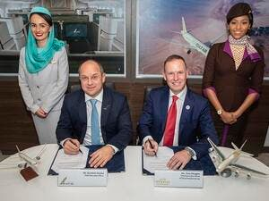The MOU was signed on the first day of the Bahrain International Airshow, currently taking place at the Sakhir Airbase, by Mr. Tony Douglas, Group Chief Executive Officer of Etihad Aviation Group, and Mr. Krešimir Kučko, Chief Executive Officer of Gulf Air.