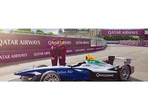 Qatar Airways was the official airline partner and title sponsor of the 2017 Qatar Airways Paris ePrix