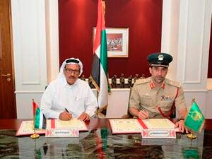 Signing a Memorandum of Understanding between the Dubai Police and Al Habtoor Group aimed at giving special promotions for Dubai Police.
