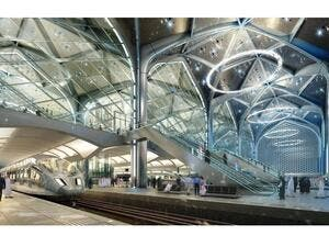 The Haramain high-speed rail link is among the Saudi infrastructure projects catching the attention of international investors. (AN)