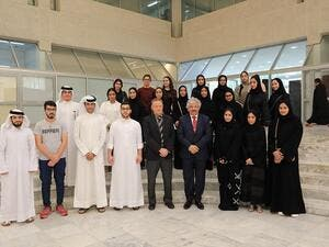The university welcomed the students and accompanied them on a tour of the university departments.