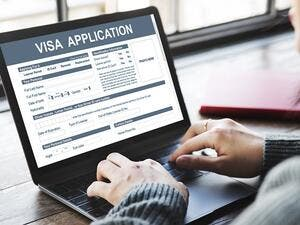 The e-services include issuance and renewal of visit visas, transit visas, leave and return visas and work visas. (Shutterstock)